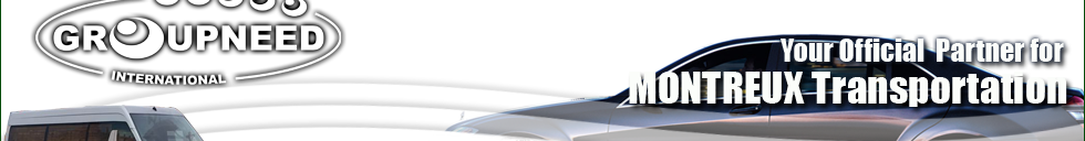 Airport transfer to Montreux from Geneva with Limousine / Minibus / Helicopter / Limousine